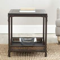 Safavieh American Homes Collection Dinesh Black and Dark Walnut End Table
