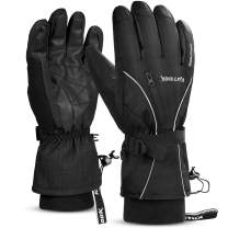 KUTOOK Waterproof Thermal Ski Gloves Touch Screen 3M Thinsulate Gloves