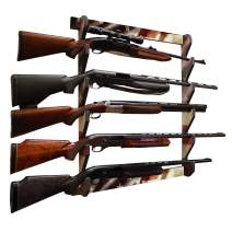 Rush Creek Creations Indoor 5 Rifle/Shotgun Wall Storage Display Rack