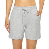 "BALEAF Women's 5"" Casual Jersey Cotton Shorts Lounge Yoga Pajama Walking Shorts with Pockets Activewear"