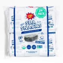 KPOP Sea Snacks - Premium Seaweed Snacks, 5 grams (Pack of 24) Lightly Salted Roasted Seaweed - Keto Friendly Korean Snacks, Vegan, Certified Organic and Verified Non-GMO, from KPOP Foods