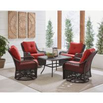 Hanover ORL5PCCTSW4-BRY Patio Chat Set, Autumn Berry