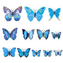 AWAYTR Realistic Printed Butterfly Hair Clip 12Pcs DIY Handmade Design Fairy Hair Clips Set Hair Accessories for Girls Women, Navy Blue, One Size