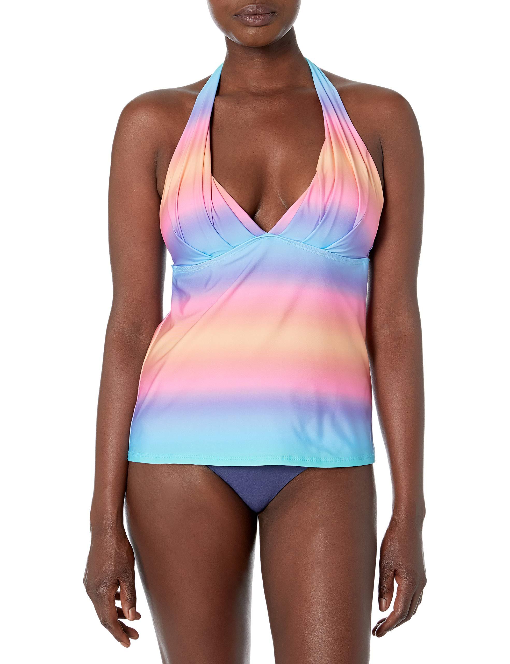 Athena Women's Solids Halter Swimsuit Tankini Top