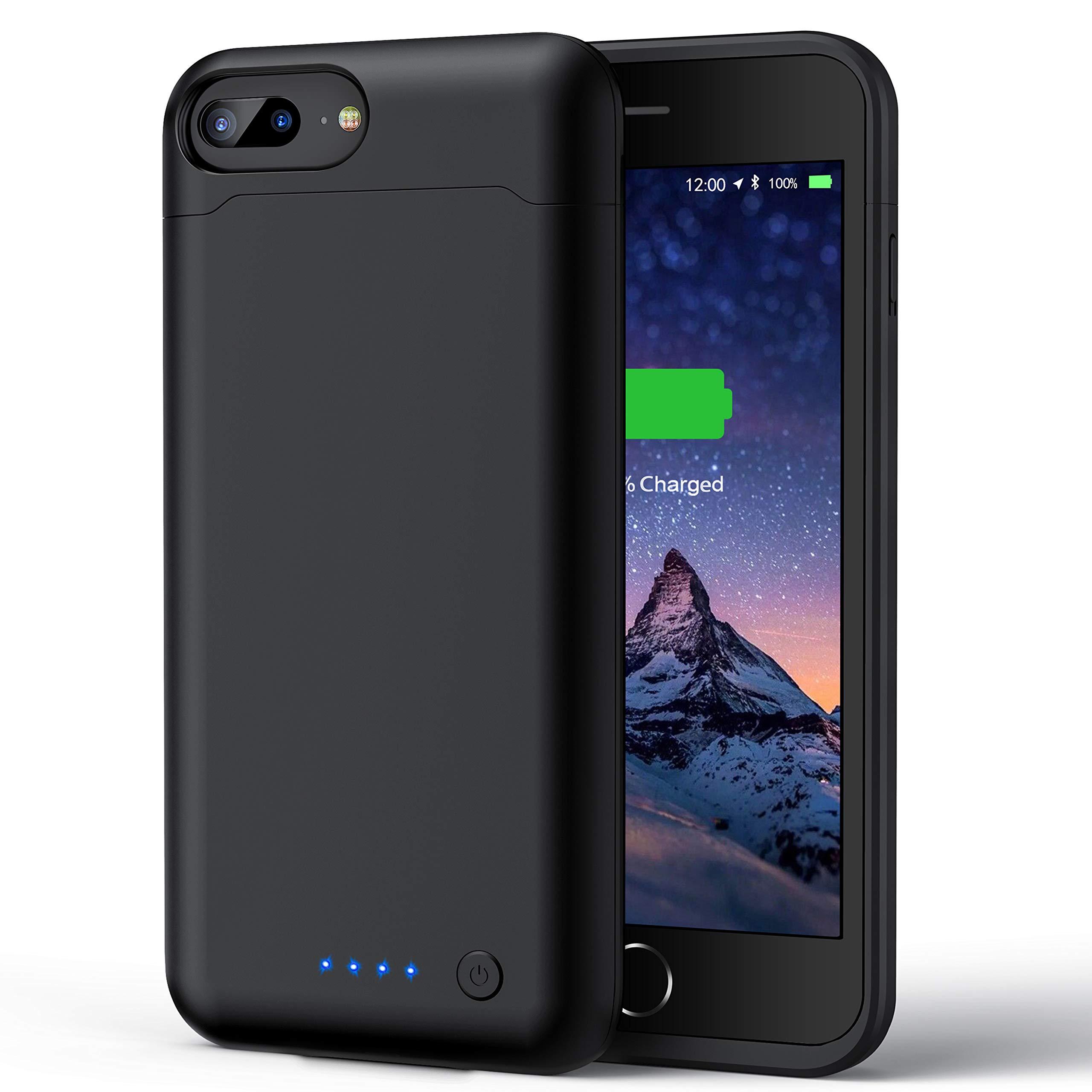 Battery Case for iPhone 8 Plus/ 7 Plus/ 6 Plus/ 6s Plus, 8500mAh Portable Charging Case Extended Battery Pack Rechargeable Charger Case for iPhone 8 Plus/ 7 Plus/ 6 Plus/ 6s Plus (5.5inch) -Black