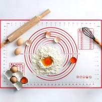 Non Slip Silicone Pastry Mat, Large Non-stick Baking Mat for Rolling Dough, Baking, Fondant, Pie Crust, Pizza, Bread, Cookie,Counter Mat, Dough Rolling Mat, Oven Liner, Pie Crust Mat (16''(W)24''(L))