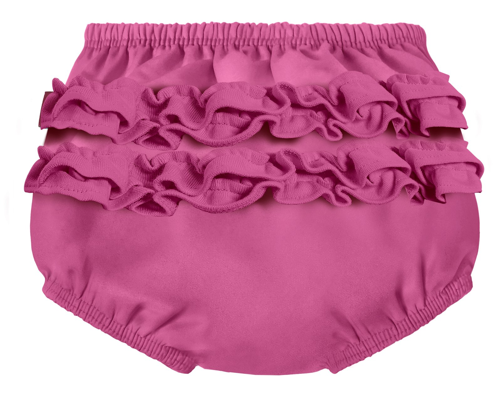 City Threads Baby Girls' Ruffle Swim Diaper Cover Reusable Leakproof for Swimming Pool Lessons Beach, Plum, 3T