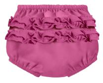 City Threads Baby Girls' Ruffle Swim Diaper Cover Reusable Leakproof for Swimming Pool Lessons Beach, Plum, 3/6m