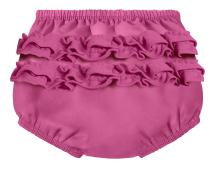 City Threads Baby Girls' Ruffle Swim Diaper Cover Reusable Leakproof for Swimming Pool Lessons Beach, Plum, 4T