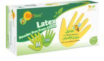 Powder Free Exam Gloves, Medium, Yellow