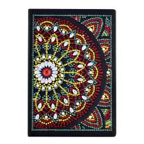 Lxmsja Diamond Painting Book Special Shaped DIY Notebook Diary with Diamond Art Cover Mandala 100 Pages/50 Sheets A5 Plain/Blank Journal