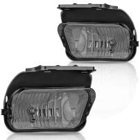 AUTOSAVER88 Fog Lights Compatible with Chevy Silverado 2003 2004 2005 2006 2007 All Models Avalanche 2002 2003 2004 2005 2006 Without Body Cladding (OE Style Smoke Lens w/Blubs)
