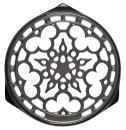 Le Creuset N0200-7F Enameled Cast-Iron Deluxe Round Trivet, 9-Inch, Oyster