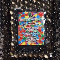 AINOLWAY Water Gel Bead Vase Fillers Beads Water Growing Pearls for Vases, Wedding Centerpiece, Kids Sensory Toys Water Table Activities (8 Oz, Black)