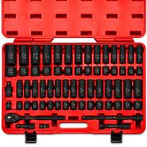 """Neiko 02448A 1/2"""" Drive Master Impact Socket Set, 65Piece Deep & Shallow Socket Assortment 