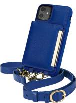 Smartish iPhone 11 Crossbody Case - Dancing Queen [Purse/Clutch with Detachable Strap & Card Holder] - Bath Bomb Blue