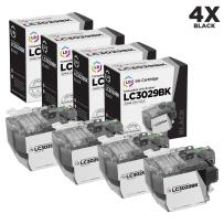 LD Compatible Ink Cartridge Replacement for Brother LC3029BK Super High Yield (Black, 4-Pack)