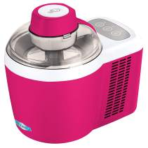 Maxi-Matic Freezing Self-Refrigerating Ice Cream Maker, Frozen Yogurt, Sorbet, Gelato Treat, 1.5 Pint, Raspberry Pink
