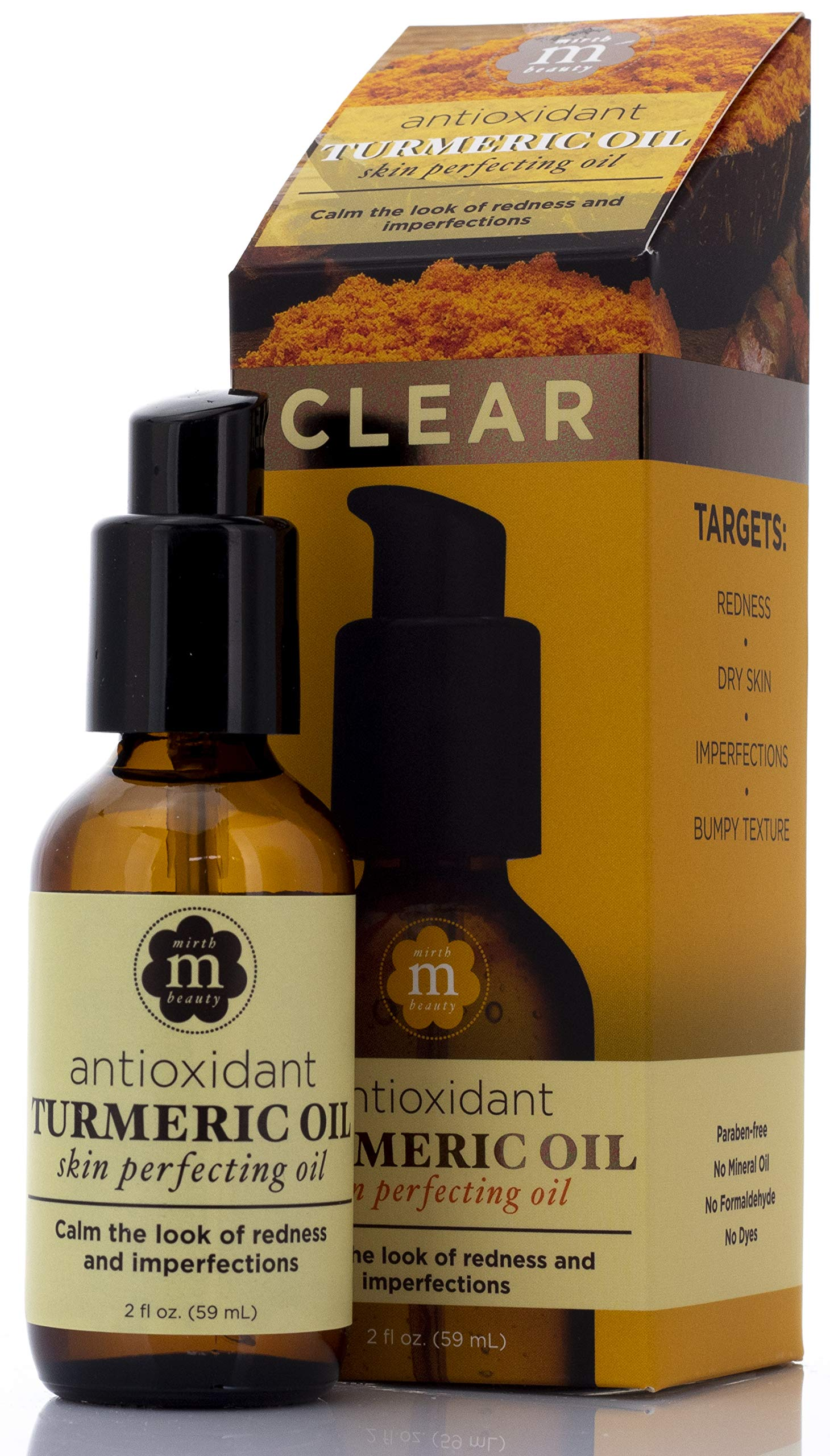 Antioxidant Turmeric Facial Oil Premium Anti-Aging Serum Skin Cream for Wrinkles, Redness, Dry Skin, More Concentrated Hydrating Treatment Delivers Soft, Smooth, Plump, Firm Skin by Mirth Beauty