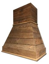 "36"" Castlewood Rustic Shiplap Chimney Range Hood - Brown (42-1/2"" H   37"" W   20-3/8"" D) (No Ventilator/Liner)"