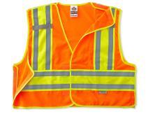 Public Safety Reflective Vest, High Visibility, ANSI Compliant, Breakaway, L/XL, Ergodyne GloWear 8245PSV