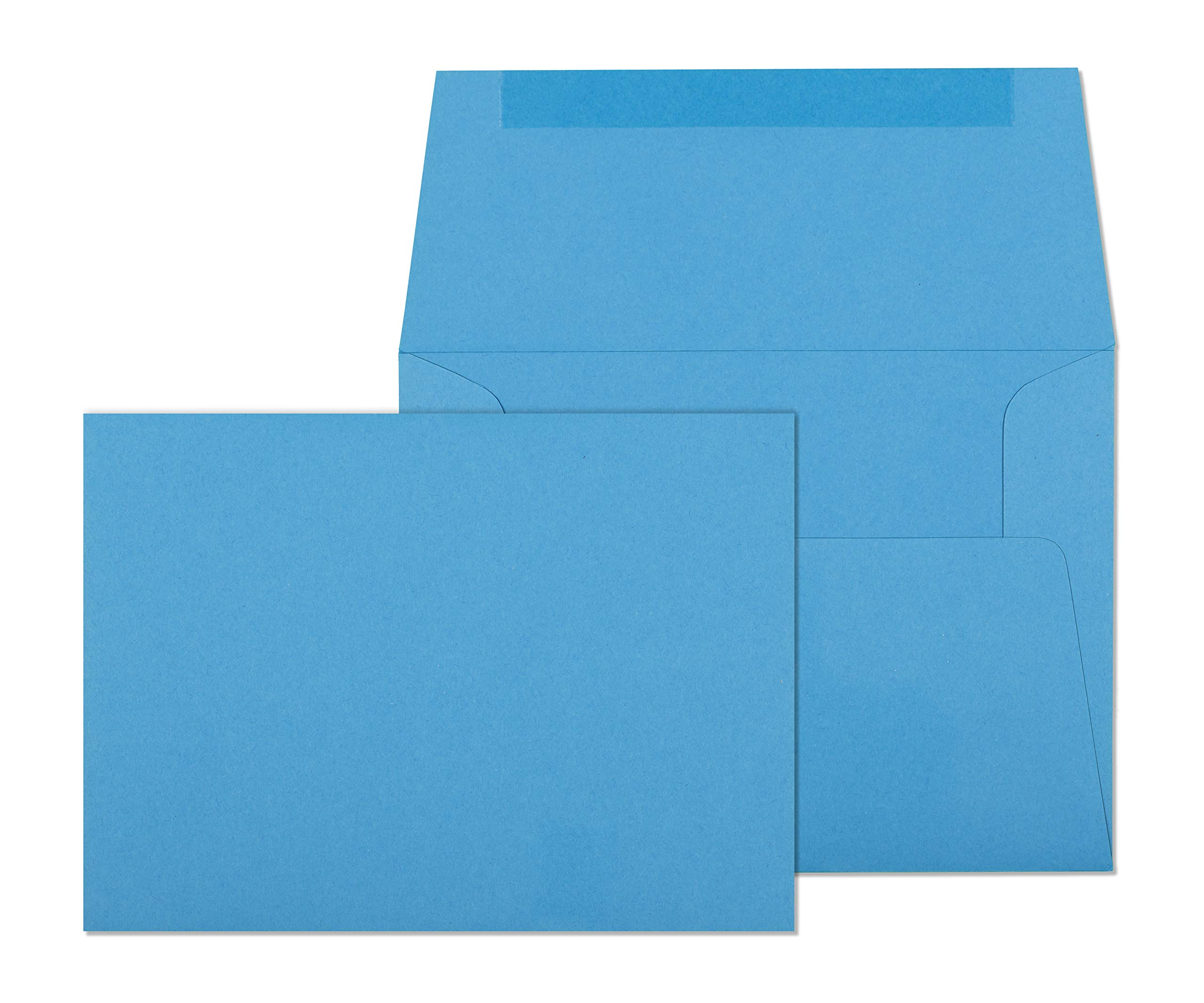 4x6 Envelopes for Invitations, Photos, Graduation, Baby Shower 4x6 Cards, Weddings,- Colored Envelope A6 4 3/4 x 6 1/2 Square Flap Pack of 50 (Pool Blue)