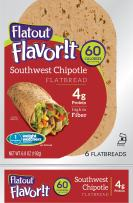 Flatout Flavorit, Southwest Chipotle (4 Packs of 6 Flatbreads)