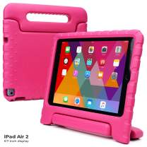 Cooper Dynamo [Rugged Kids Case] Protective Case for iPad Air 2 | Child Proof Cover with Stand, Handle, Screen Protector | Apple A1566 A1567 (Pink)