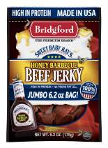 Bridgford Sweet Baby Ray's Honey Barbecue Beef Jerky, High Protein, Zero Trans Fat, Made With 100% American Beef, 6.2 Oz, Pack of 3