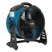 XPOWER P-26AR Industrial Axial Air Mover, Blower, Fan with Build-in Power Outlets for Water Damage Restoration, Home and Plumbing Use - 1 Amp, 1300 CFM, 4 Speeds
