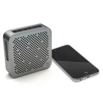 JLab Audio Crasher Mini, Metal Build Portable Splashproof Bluetooth Speaker with 10 Hour Battery - Black