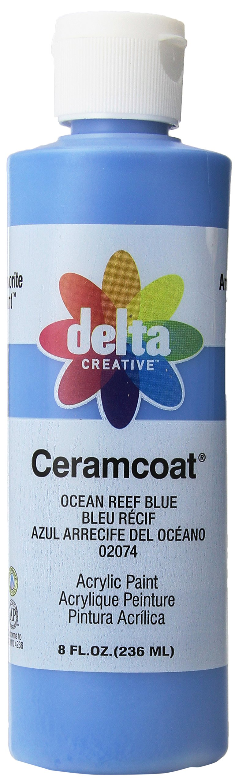 Delta Creative Ceramcoat Acrylic Paint in Assorted Colors (8 oz), , Ocean Reef Blue