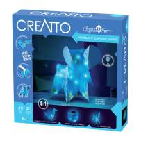 Thames & Kosmos Creatto Moonlight Elephant Safari | Light-Up Crafting Kit from Make Your Own Illuminated 3D Crafts, Décor & Lamp | Elephant, Fox, Kangaroo & Lantern | DIY Activity Kit & LED Lights