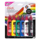 Tulip Washable Slick 3D Fabric Paint Set, Assorted Colors, Set of 6