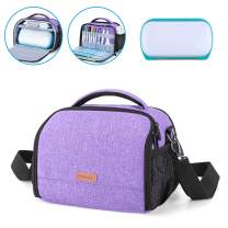 Yarwo Carrying Case for Cricut Joy, Portable Tote Bag with Accessories Storage for Cricut Pen Set and Basic Tool Set, Purple