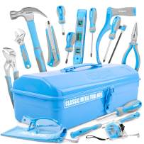Hi-Spec 33 Piece Beginner Tool Set with Sturdy Metal Tool Box, Real Hand Tools, Claw Hammer, Screwdrivers, Hacksaw, Safety Goggles for Kids, Learners, Students First Tool Kit – Great DIY Gift Toolkit
