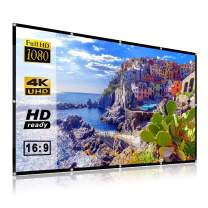 AODIN 100 Inch 16:9 4K 3D Portable Wrinke-Free Projector Screen with Stroage Bag, Foldable Anti-Crease Projector Screen for Home Entertainment, Indoor or Outdoor Use, Support Double Sided Projection