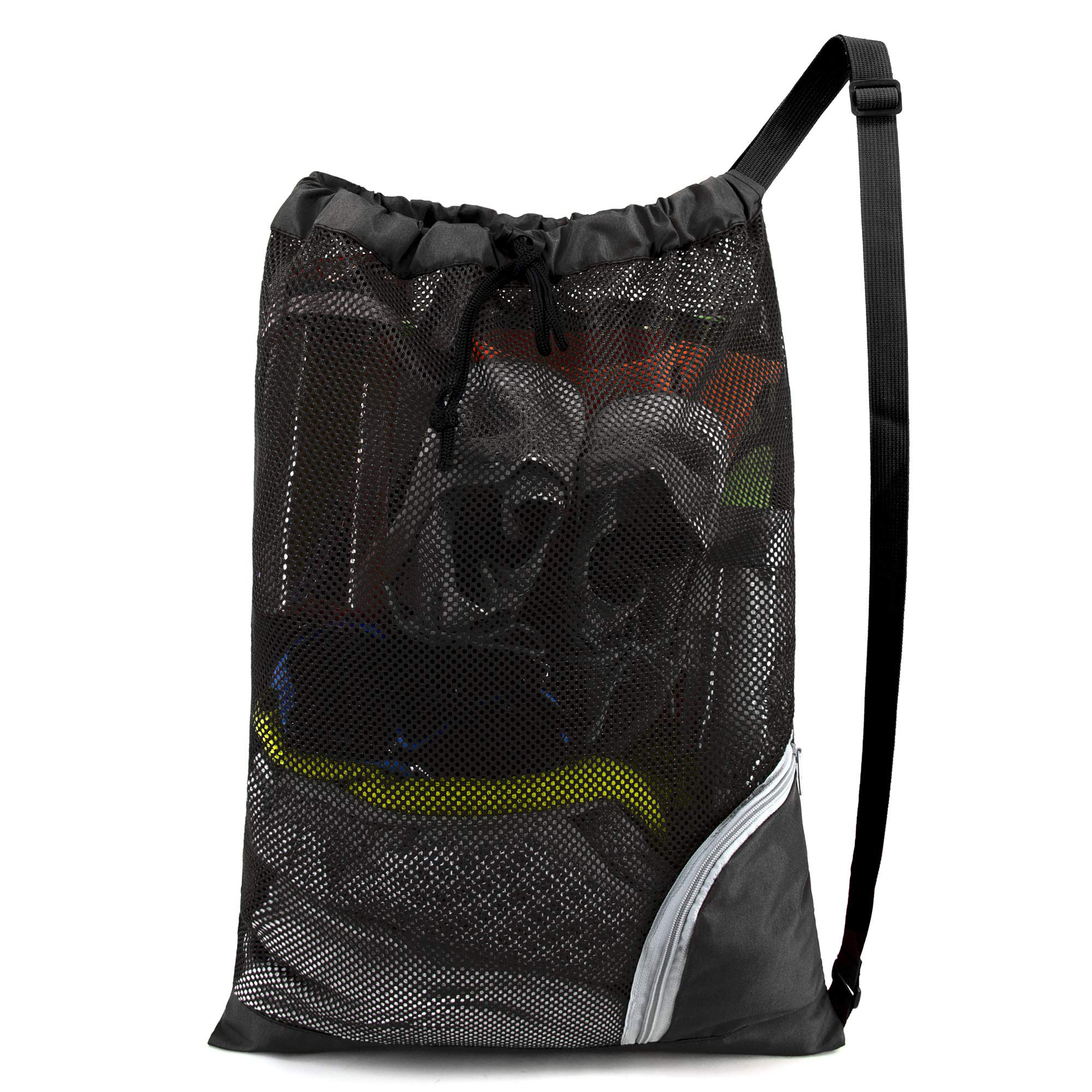Mesh Drawstring Bag Swimming Pool Backpack for Sports Beach Travel Gym Workout