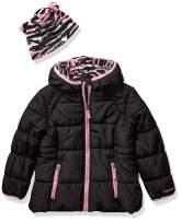 LONDON FOG Girls' Little Puffer Jacket with Novelty