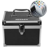 MEEDEN 120 Slots Marker Case with Aluminum Alloy Case - Fashion Luxury Empty Holder Markers Carrying Case for Copic Touch Finecolour Markers, Hold Marker Height up to 6 1/3-In