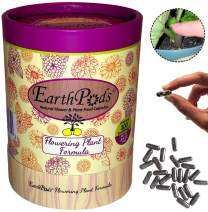 EarthPods Premium Bloom Flowering Plant Food - Easy Organic Fertilizer Spikes - 100 Capsules - Boost Blossoms (Great for Roses, Potted Annuals, Perennials, Flower Bulbs, Hanging Baskets, Ecofriendly)