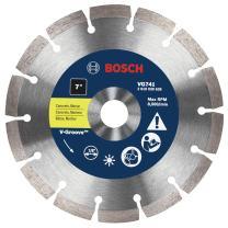 Bosch VG741 7-Inch x 7/8-Inch Segmented Rim V-Groove Diamond Blade for General Purpose