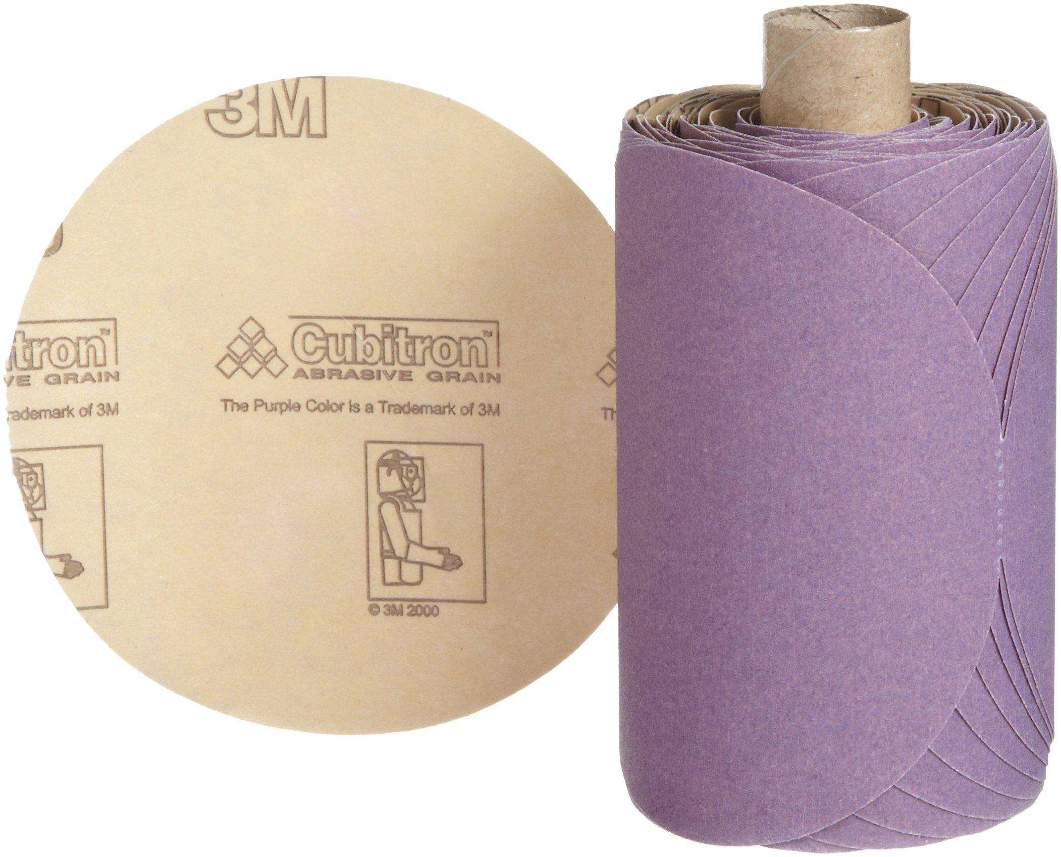 3M Stikit Paper Disc Roll 735U, P100 C-weight, 5 in x NH, Die 500X, 100 discs per roll