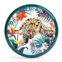 Ceramic Hot Pads, Trivet Mat for Hot Dishes/Pot/Bowl/Teapot/Hot Pot Holders,Multipurpose Kitchen Tool, 7.6 Inches Wall Decoration Pendant-Jaguar