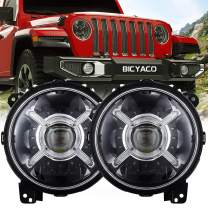 """9"""" Inch Round LED Headlights for 2018 2019 Jeep Wrangler JL Gladiator SUV Headlamps Replacement with Daytime Running Lights High Low Beam Adjustable"""