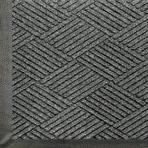 M+A Matting - 2295730035 WaterHog Eco Premier | Commercial-Grade Entrance Mat with Diamond Pattern & Rubber Border | Indoor/Outdoor, Quick-Drying, Stain Resistant Door Mat (Grey Ash, 5' Length x 3' Width)
