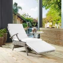 Modway EEI-2301-LGR-WHI Envisage Chair, Light Gray White