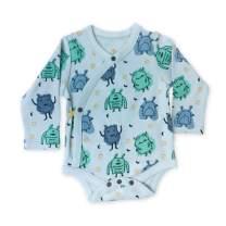 Finn + Emma Organic Cotton Long Sleeve Baby Bodysuit – Monsters, 9-12 Months