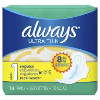 Always Ultra Thin Regular Pads with Flexi-Wings, 10-Count