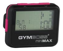 Gymboss miniMAX Interval Timer and Stopwatch - Black/Pink SOFTCOAT